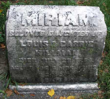 HILLMAN, MIRIAM - Montgomery County, Ohio | MIRIAM HILLMAN - Ohio Gravestone Photos