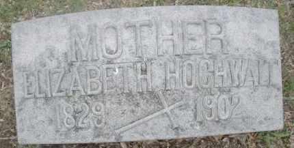 HOCHWALT, ELIZABETH - Montgomery County, Ohio   ELIZABETH HOCHWALT - Ohio Gravestone Photos