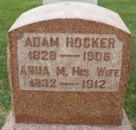 HOCKER, ADAM - Montgomery County, Ohio | ADAM HOCKER - Ohio Gravestone Photos