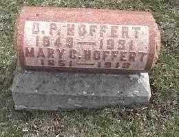 HOFFERT, D. P. - Montgomery County, Ohio   D. P. HOFFERT - Ohio Gravestone Photos