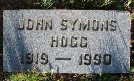 HOGG, JOHN SYMONS - Montgomery County, Ohio   JOHN SYMONS HOGG - Ohio Gravestone Photos