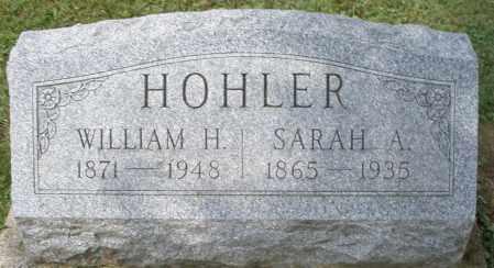 HOHLER, WILLIAM H. - Montgomery County, Ohio | WILLIAM H. HOHLER - Ohio Gravestone Photos