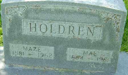 HOLDREN, MAZE - Montgomery County, Ohio   MAZE HOLDREN - Ohio Gravestone Photos