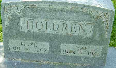 HOLDREN, MAE - Montgomery County, Ohio | MAE HOLDREN - Ohio Gravestone Photos