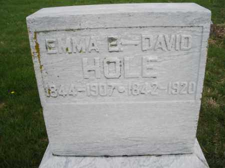 HOLE, DAVID - Montgomery County, Ohio | DAVID HOLE - Ohio Gravestone Photos