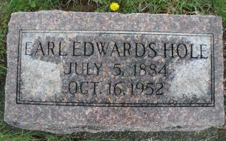 HOLE, EARL EDWARDS - Montgomery County, Ohio   EARL EDWARDS HOLE - Ohio Gravestone Photos