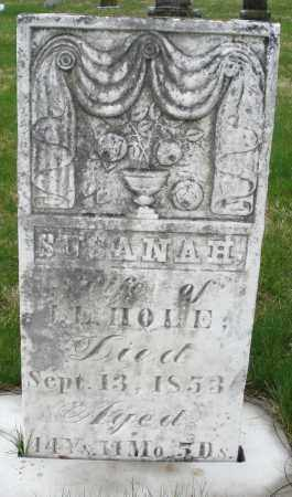 HOLE, SUSANNAH - Montgomery County, Ohio | SUSANNAH HOLE - Ohio Gravestone Photos