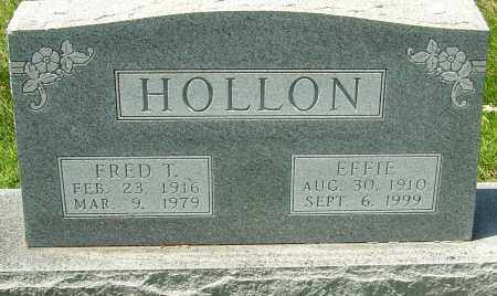 HOLLON, EFFIE - Montgomery County, Ohio | EFFIE HOLLON - Ohio Gravestone Photos
