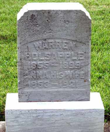 HOLSAPPLE, WARREN - Montgomery County, Ohio | WARREN HOLSAPPLE - Ohio Gravestone Photos