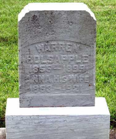 HOLSAPPLE, ANNA - Montgomery County, Ohio | ANNA HOLSAPPLE - Ohio Gravestone Photos
