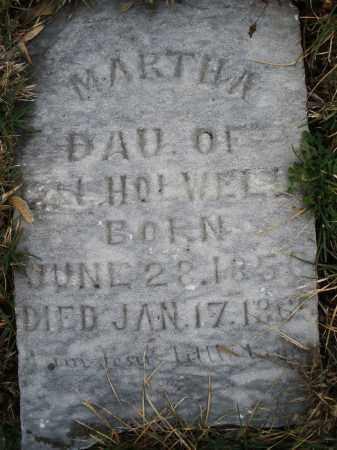 HOLWELL, MARTHA - Montgomery County, Ohio | MARTHA HOLWELL - Ohio Gravestone Photos