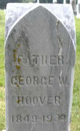 HOOVER, GEORGE W. - Montgomery County, Ohio | GEORGE W. HOOVER - Ohio Gravestone Photos