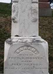 HOOVER, SARAH - Montgomery County, Ohio | SARAH HOOVER - Ohio Gravestone Photos
