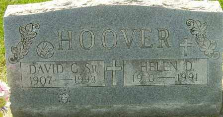 HOOVER SR., DAVID G - Montgomery County, Ohio | DAVID G HOOVER SR. - Ohio Gravestone Photos