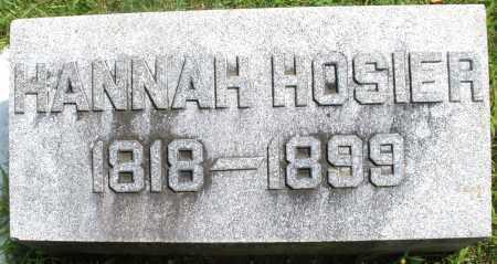 HOSIER, HANNAH - Montgomery County, Ohio | HANNAH HOSIER - Ohio Gravestone Photos