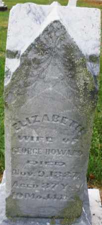 HOWARD, ELIZABETH - Montgomery County, Ohio | ELIZABETH HOWARD - Ohio Gravestone Photos