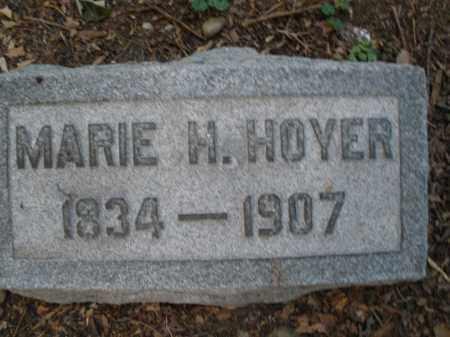 HOYER, MARIE M. - Montgomery County, Ohio | MARIE M. HOYER - Ohio Gravestone Photos