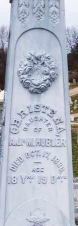HUBLER, CHRISTENA - Montgomery County, Ohio | CHRISTENA HUBLER - Ohio Gravestone Photos
