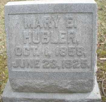 HUBLER, MARY E. - Montgomery County, Ohio | MARY E. HUBLER - Ohio Gravestone Photos