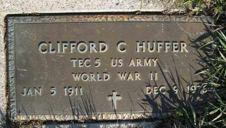 HUFFER, CLIFFORD C. - Montgomery County, Ohio | CLIFFORD C. HUFFER - Ohio Gravestone Photos