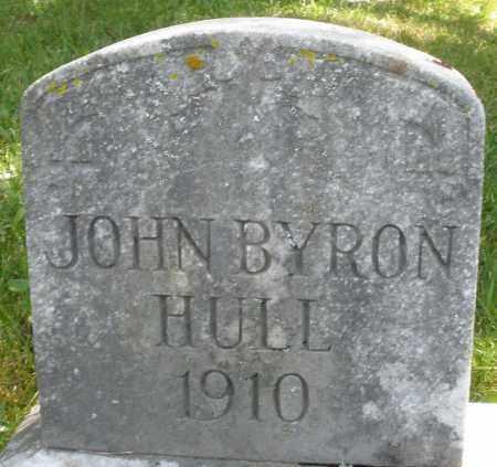 HULL, JOHN BYRON - Montgomery County, Ohio | JOHN BYRON HULL - Ohio Gravestone Photos