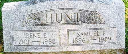 HUNT, SAMUEL F. - Montgomery County, Ohio | SAMUEL F. HUNT - Ohio Gravestone Photos