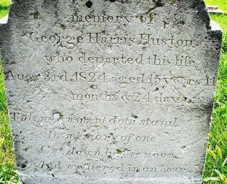 HUSTON, GEORGE HARRIS - Montgomery County, Ohio   GEORGE HARRIS HUSTON - Ohio Gravestone Photos