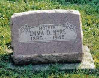 HYRE, EMMA D. - Montgomery County, Ohio | EMMA D. HYRE - Ohio Gravestone Photos