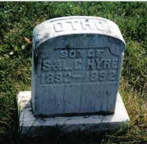 HYRE, OTHO - Montgomery County, Ohio   OTHO HYRE - Ohio Gravestone Photos