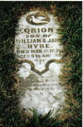 HYRE, ORION - Montgomery County, Ohio   ORION HYRE - Ohio Gravestone Photos