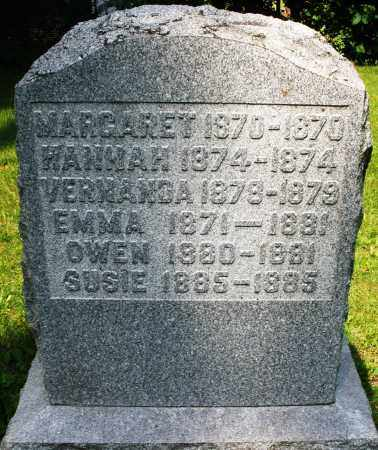 INFANT ?, MARGARET - Montgomery County, Ohio | MARGARET INFANT ? - Ohio Gravestone Photos