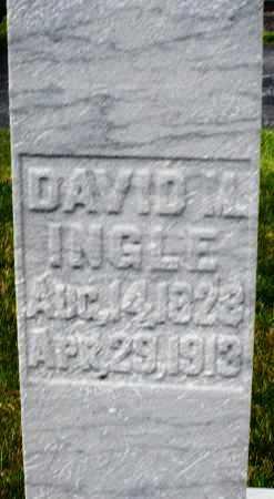 INGLE, DAVID M. - Montgomery County, Ohio   DAVID M. INGLE - Ohio Gravestone Photos