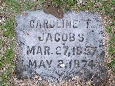 JACOBS, CAROLINE T. - Montgomery County, Ohio | CAROLINE T. JACOBS - Ohio Gravestone Photos