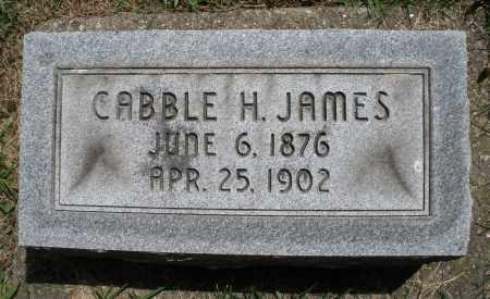 JAMES, CABBLE H. - Montgomery County, Ohio   CABBLE H. JAMES - Ohio Gravestone Photos