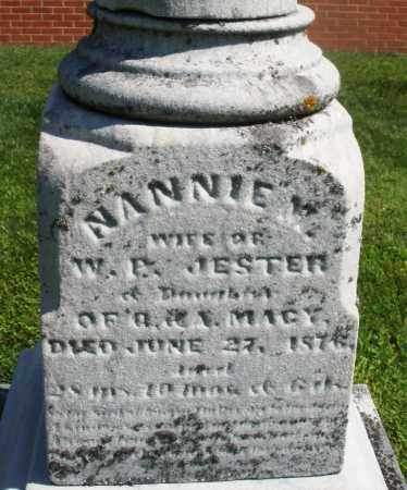 JESTER, NANNIE M. - Montgomery County, Ohio | NANNIE M. JESTER - Ohio Gravestone Photos