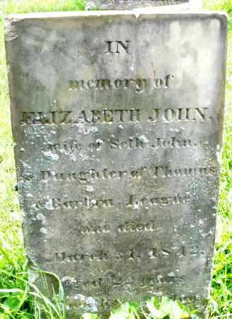 LEAGUE JOHN, ELIZABETH - Montgomery County, Ohio | ELIZABETH LEAGUE JOHN - Ohio Gravestone Photos