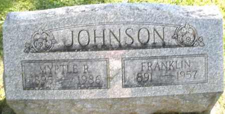 JOHNSON, FRANKLIN - Montgomery County, Ohio | FRANKLIN JOHNSON - Ohio Gravestone Photos