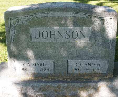 JOHNSON, ROLAND H. - Montgomery County, Ohio | ROLAND H. JOHNSON - Ohio Gravestone Photos