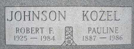 KOZEL JOHNSON, PAULINE - Montgomery County, Ohio | PAULINE KOZEL JOHNSON - Ohio Gravestone Photos