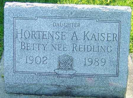 REIDLING KAISER, HORTENSE - Montgomery County, Ohio   HORTENSE REIDLING KAISER - Ohio Gravestone Photos