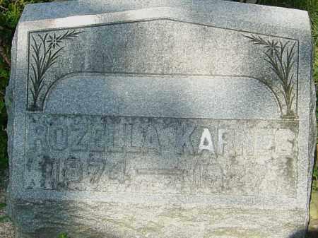 WOODARD KARNES, ROZELLA - Montgomery County, Ohio | ROZELLA WOODARD KARNES - Ohio Gravestone Photos
