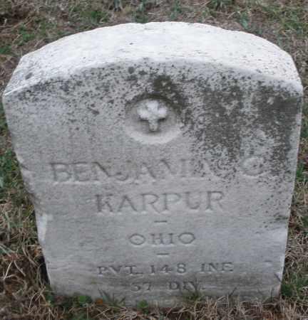 KARPUR, BENJAMIN - Montgomery County, Ohio | BENJAMIN KARPUR - Ohio Gravestone Photos