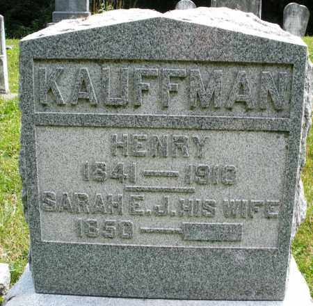KAUFFMAN, SARAH E.J. - Montgomery County, Ohio | SARAH E.J. KAUFFMAN - Ohio Gravestone Photos