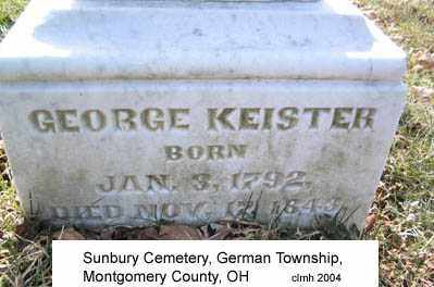 KEISTER, GEORGE - Montgomery County, Ohio | GEORGE KEISTER - Ohio Gravestone Photos