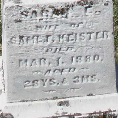 KEISTER, SARAH C. - Montgomery County, Ohio | SARAH C. KEISTER - Ohio Gravestone Photos
