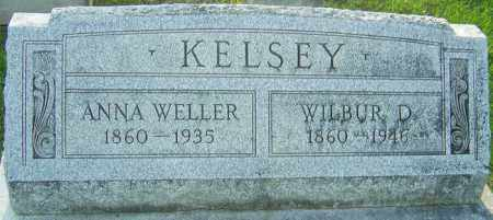 WELLER KELSEY, ANNA - Montgomery County, Ohio | ANNA WELLER KELSEY - Ohio Gravestone Photos