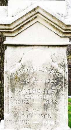 KEMPERT, ANTHONY F. - Montgomery County, Ohio | ANTHONY F. KEMPERT - Ohio Gravestone Photos