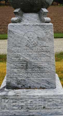 KERCHER, ALBERTUS - Montgomery County, Ohio | ALBERTUS KERCHER - Ohio Gravestone Photos