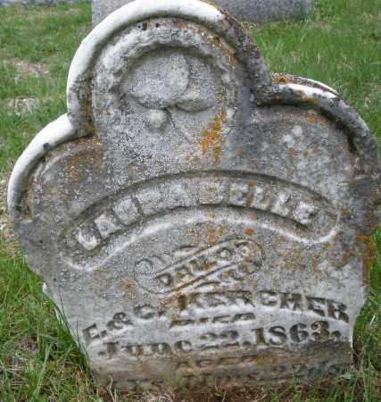 KERCHER, CLARA BELLE - Montgomery County, Ohio | CLARA BELLE KERCHER - Ohio Gravestone Photos