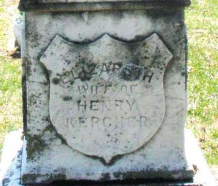 KERCHER, ELIZABETH - Montgomery County, Ohio | ELIZABETH KERCHER - Ohio Gravestone Photos